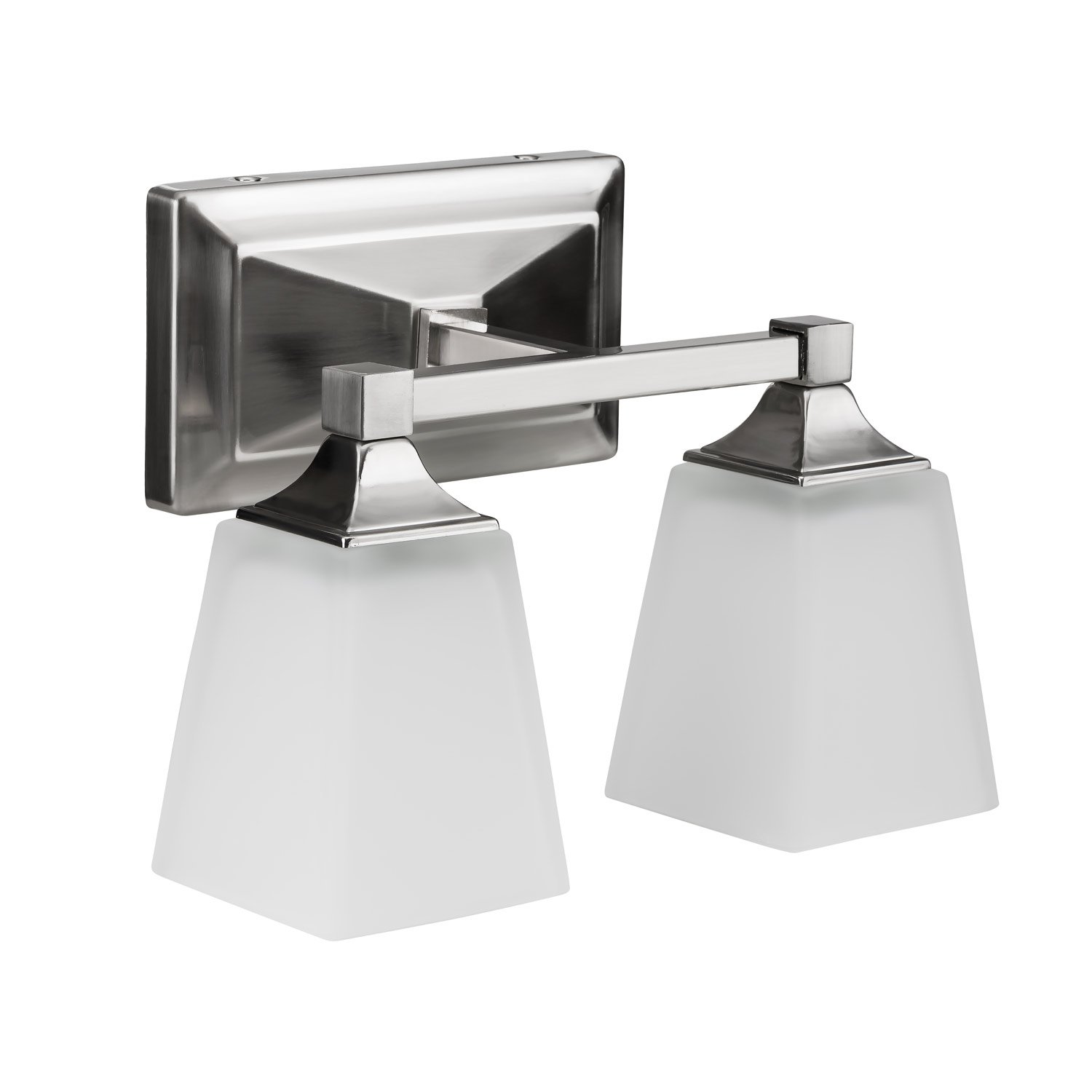 LB74110 LED 2-Light Bath Vanity light, Antique Brushed Nickel, 15-Watt (120W Equiv.) 3000K Warm White, 1050 Lumens, 12'' W, LED Wall Sconce Fixture, ETL and ENERGY STAR Listed