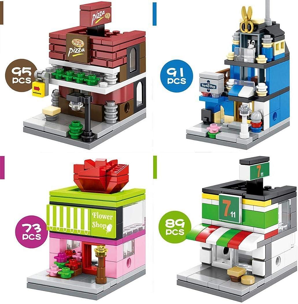 vershine New Kids Children Mini Commercial Street View Blocks Toys Set Walking Sticks /& Canes