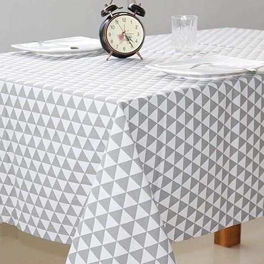 WENEE Manteles Mantel Impermeable de algodón poliéster Mantel Personalizado Mantel de Mesa de café doméstico Mantel Redondo Mantel de impresión, Color G, 140 * 200 cm: Amazon.es: Hogar
