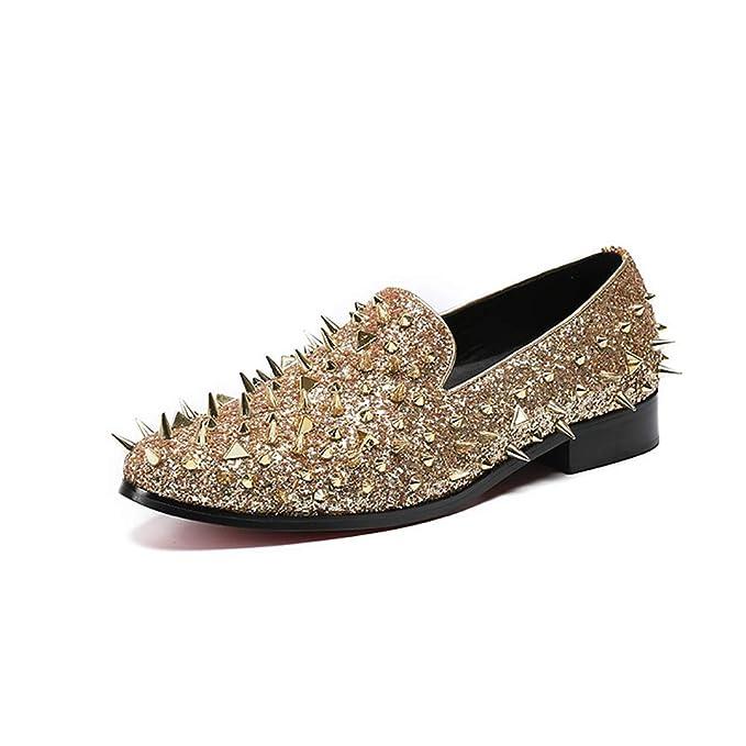 Zapatos De Hombre Oxford Spring Zapatos De Conducción De Otoño Mocasines Mocasín Y Slip-ONS Rivet Para Fiesta: Amazon.es: Ropa y accesorios