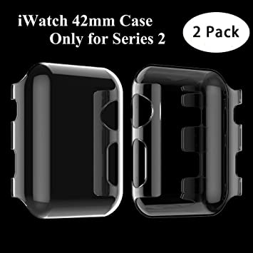 Apple Watch Series 2 Funda, Feskin [2 Pack] Carcasa Apple Watch Case con caratteristica dei Protector de pantalla para iWatch Series 2 42mm (PC Clear)