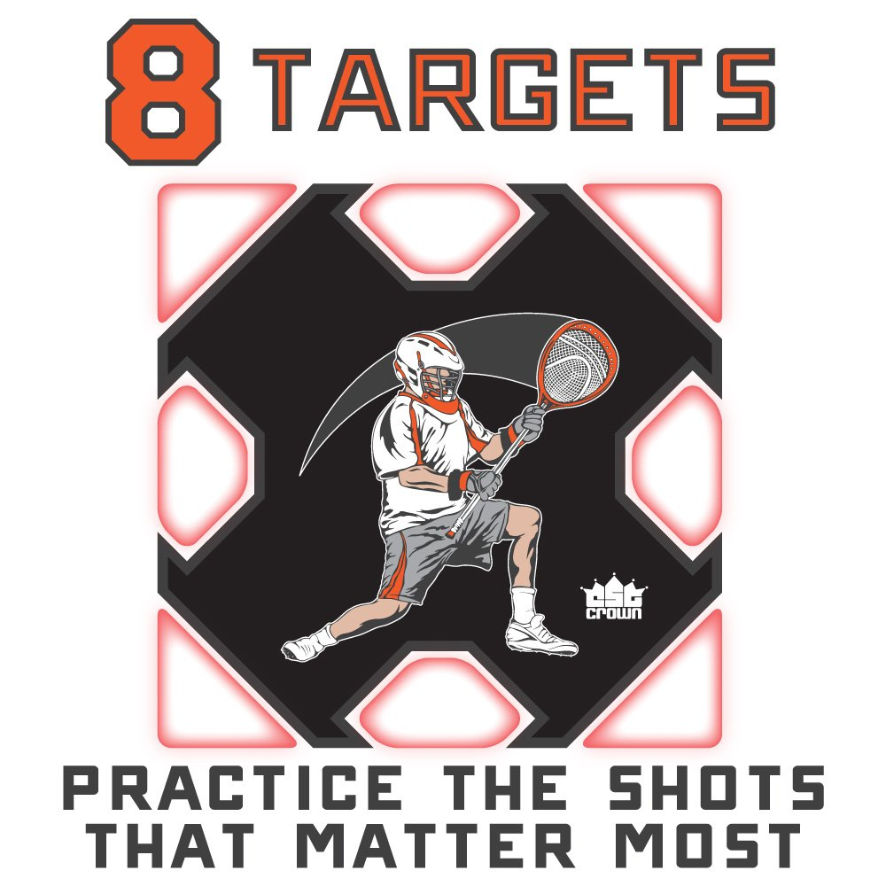Lacrosse Goal Practice Target (Goal Not Included) - Fits Any Standard Size Lacrosee Goal! by Crown (Image #4)