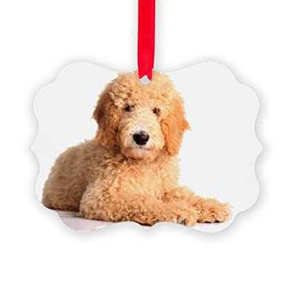 cafepress golden doodle puppy isolated on white picture o christmas ornament - Goldendoodle Christmas Ornament