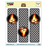Set of 3 Glossy Laminated Bookmarks - Sports and Hobbies - Campfire Camp Camping Fire Pit Logs Flames