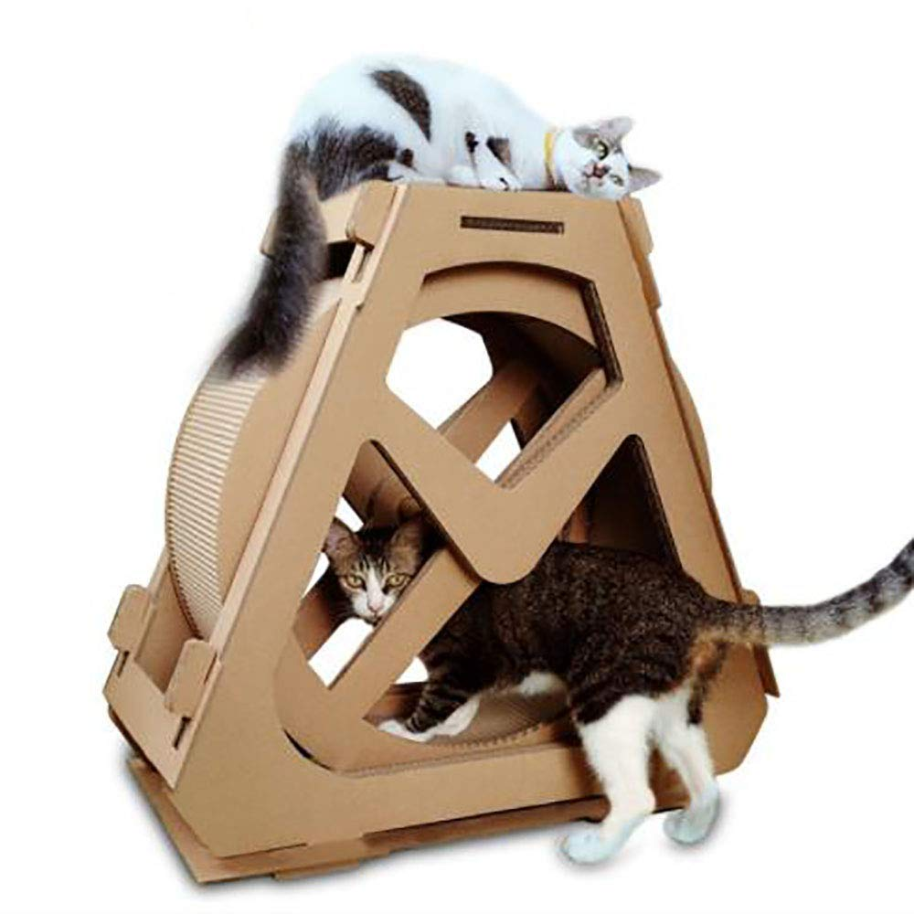 Cat Climbing Frame Ferris Wheel Cat Scratch Board Corrugated Paper Cat Climbing Frame Cat Litter Creative Pet Supplies