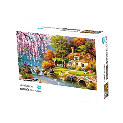 Choola High Difficulty Adults Jigsaw Puzzles Pastoral Landscape 1000PC Puzzle Toys: Toys & Games