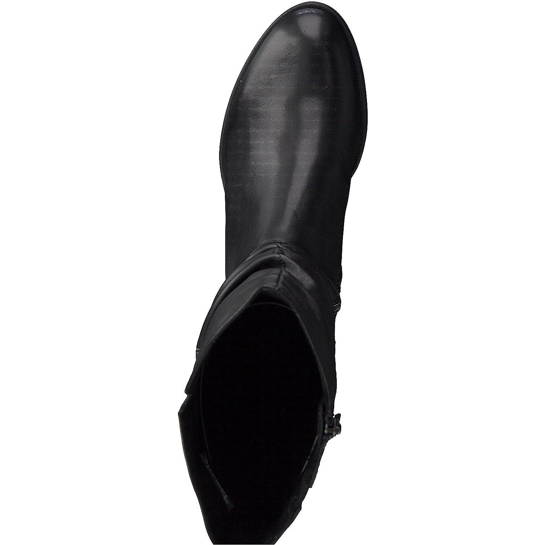 Tamaris Damen Stiefel,Reißverschluss,Blockabsatz Stiefel 25345-21,Frauen Stiefel,Reißverschluss,Blockabsatz Damen 3cm schwarz c3e10a