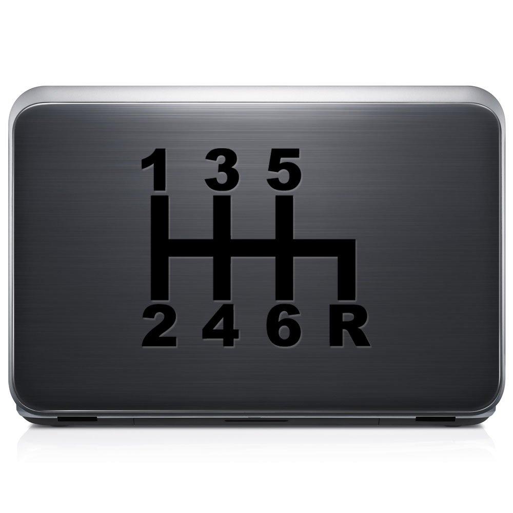 6速度手動Shift日本語JDM取り外し可能なビニールデカールステッカーforラップトップタブレットWindows壁装飾車トラックオートバイヘルメット (05 in / 13 cm) Wide RSJM109-05MWH (05 in / 13 cm) Wide グロスホワイト B076YMK6P9