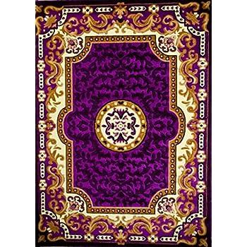Amazon Com 2034 Purple 8x11 Area Rug Oriental Carpet