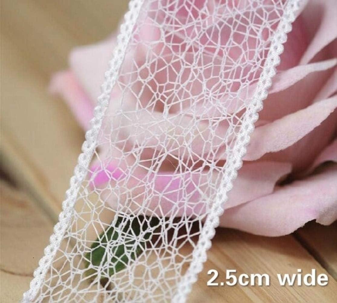 4 cm de ancho blanco hueco bordado flor de tul encaje cinta de ...