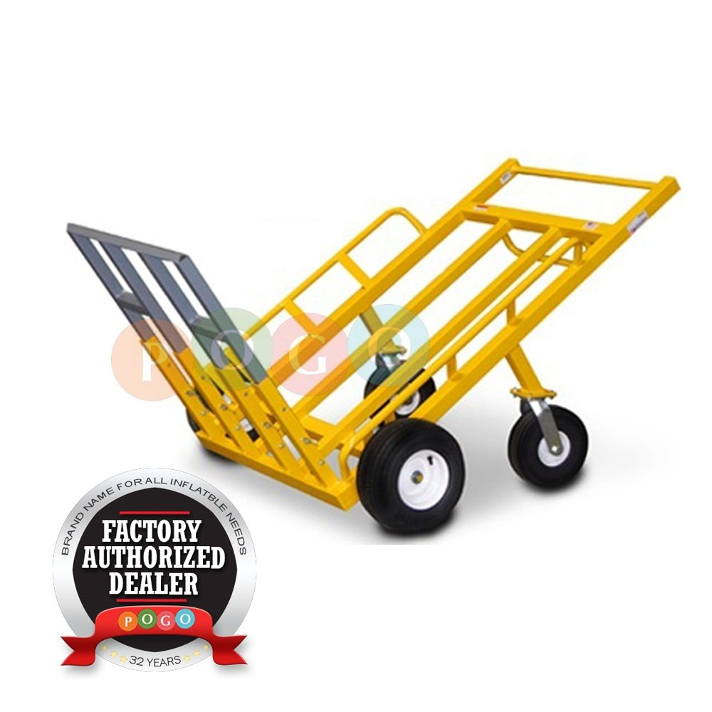 1200-Pound Weight Capacity Grizzly Multi-Mover Heavy Duty Solid Steel Commercial Grade Hand Truck with Adjustable Never Flat Tires
