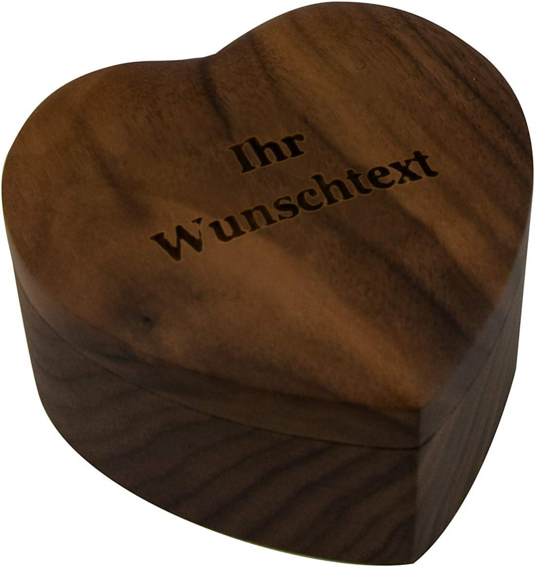 Geschenke 24 Ringbox Ringkissen Hochzeit Mit Gravur Herzen Bambus Holz Herz Gravierte Ringtr/äger F/ür Ringe Mit Namen Und Datum Trauung