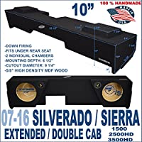 Chevy Silverado GMC Sierra Extended Double Cab 10 Truck Sub Box Subwoofer Enclosure …