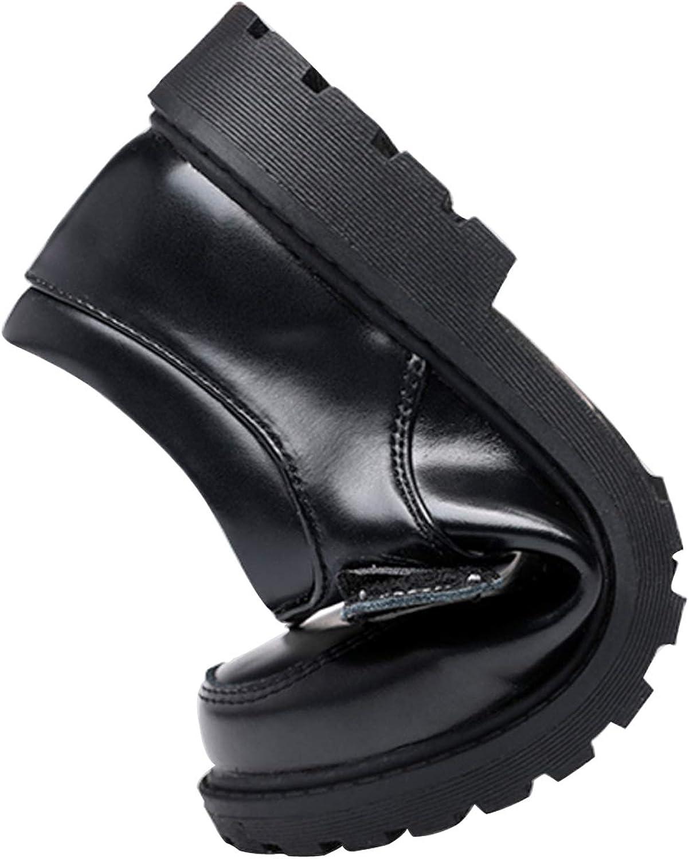 Toddler//Little Kid//Big Kid Boys Leather Black School Uniform Dress Oxford Outdoor Shoe