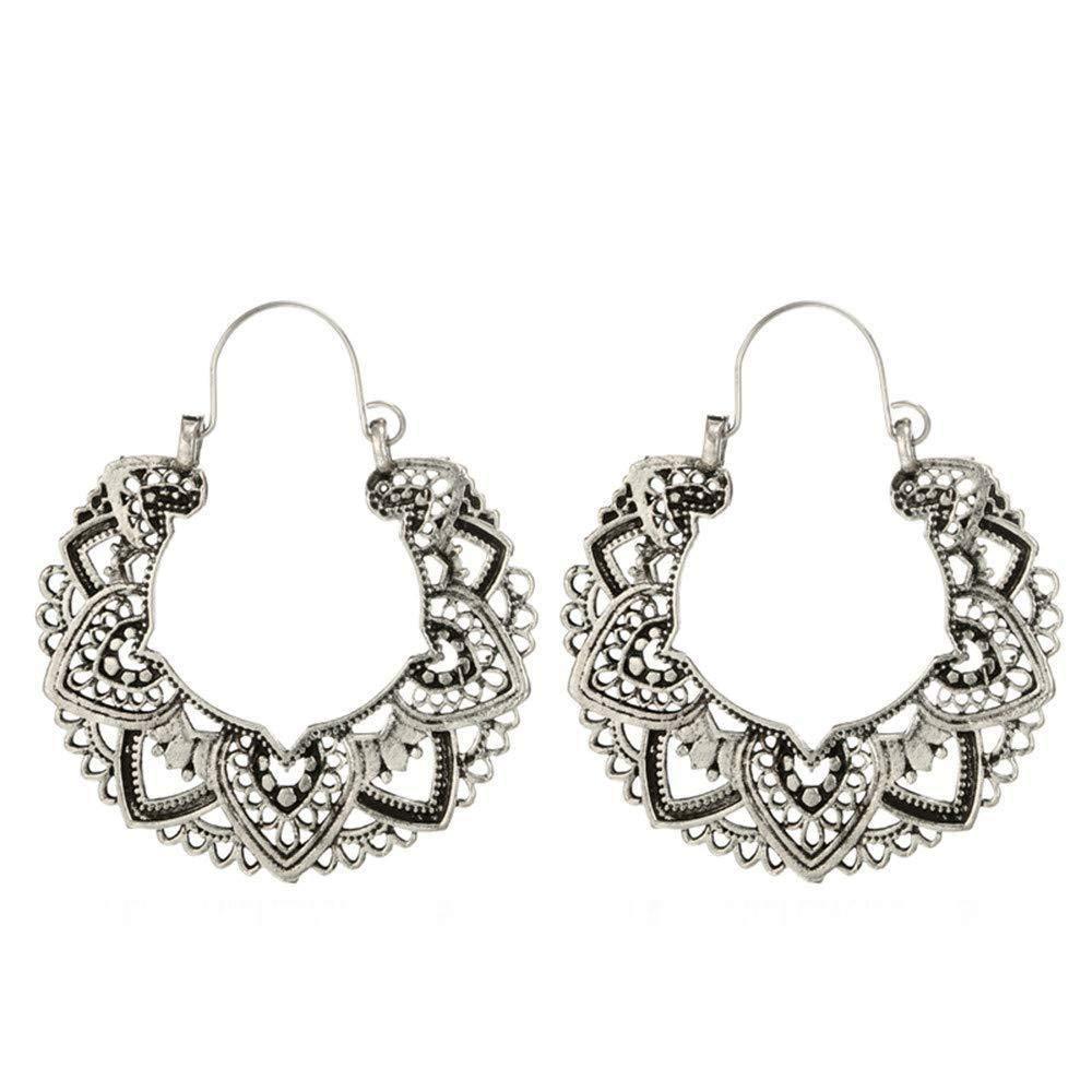 Oldlila Women Trendy Personality Bohemian Retro Shape Stud Earrings Fashion Dangle Earrings Gift