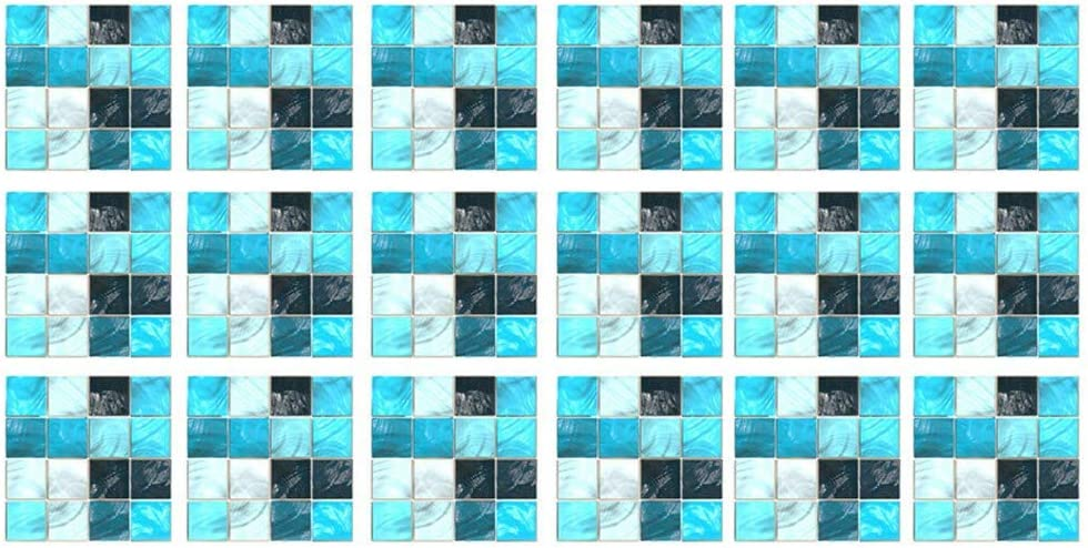 koperras Autocollant Mural 3D 10X10Cm De Grains De P/éTales Carr/éS Ombrage Sale Couleur Bleu Fonc/é Correspondant /à La Maison D/éCoration Carrelage Stickers Muraux Art D/éCorations