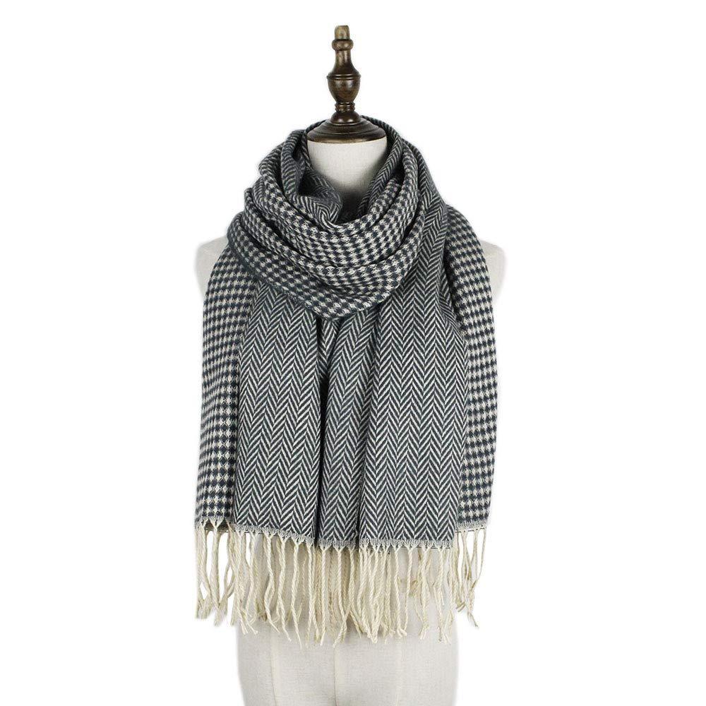 AiNaMei Bufanda caliente de cachemira larga de otoño e invierno para hombres y mujeres