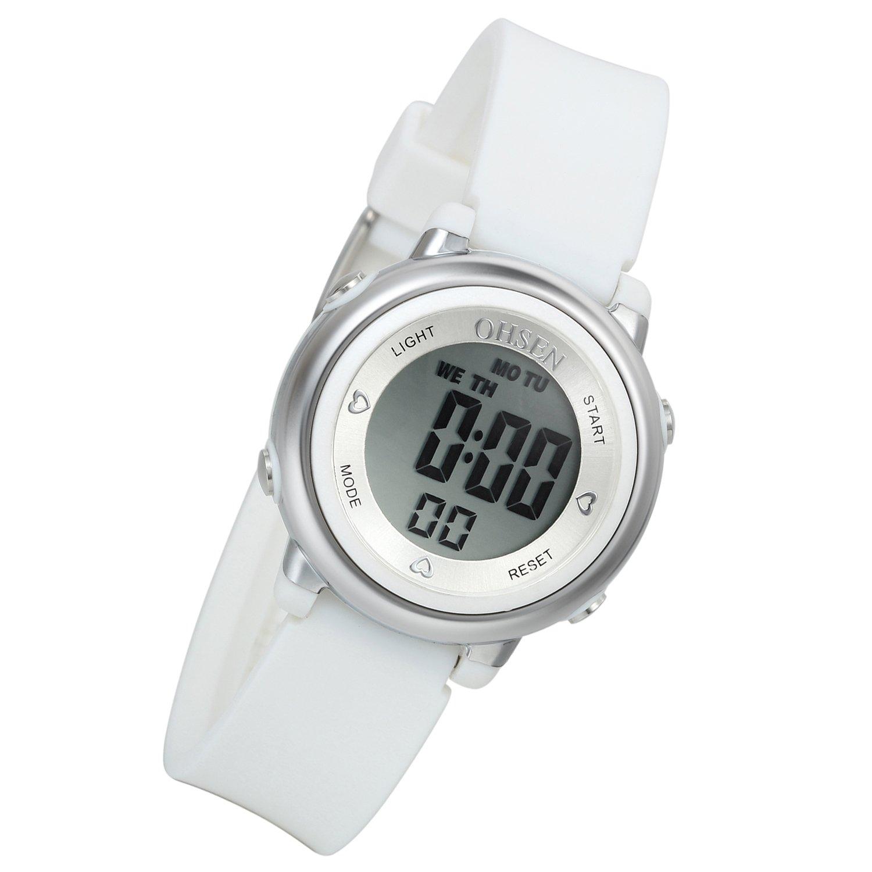 Lancardo Boy'S Girl'S 50M Waterproof Multi Function Digital Led Traning Sports Outdoor Watch(White,2Pcs)
