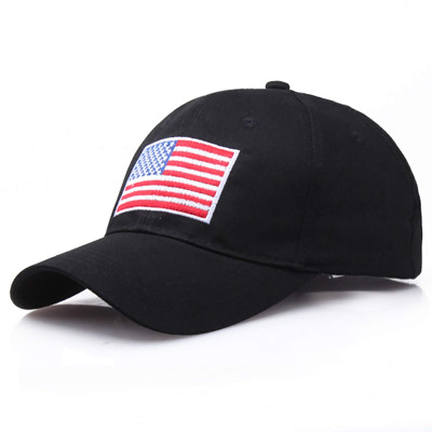 US Flag Embroidery Cotton Adjustable Baseball Cap Women Sun hat Men Sports Hats Fashion Casual Cap Travel caps