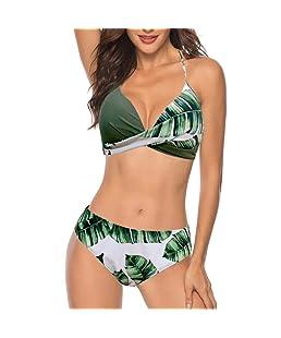Tankini Trikini Tangas LHWYSujetador Push-up para Mujer Bikini Set Traje de baño Traje de baño Ropa de Playa