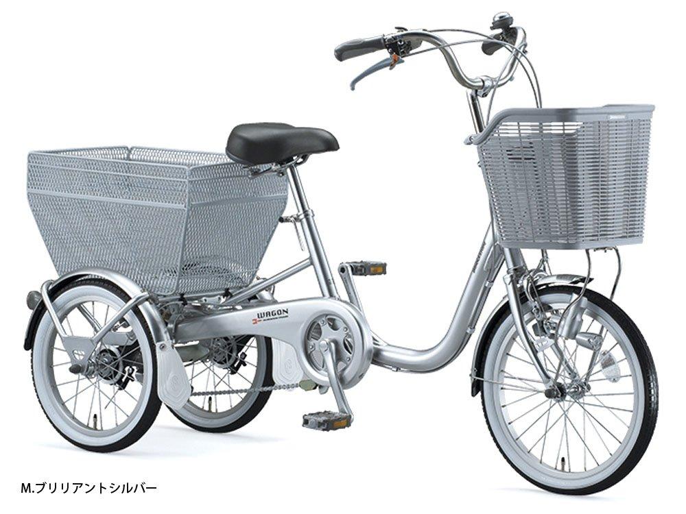ブリヂストン(BRIDGESTONE) ブリヂストンワゴン シングル BW10 三輪自転車 Mブリリアントシルバー 4193 B01AY27C0O