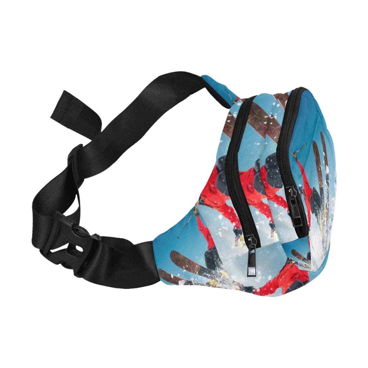 Jump Skiers Extreme Winter Sports Fenny Packs Waist Bags Adjustable Belt Waterproof Nylon Travel Running Sport Vacation Party For Men Women Boys Girls Kids