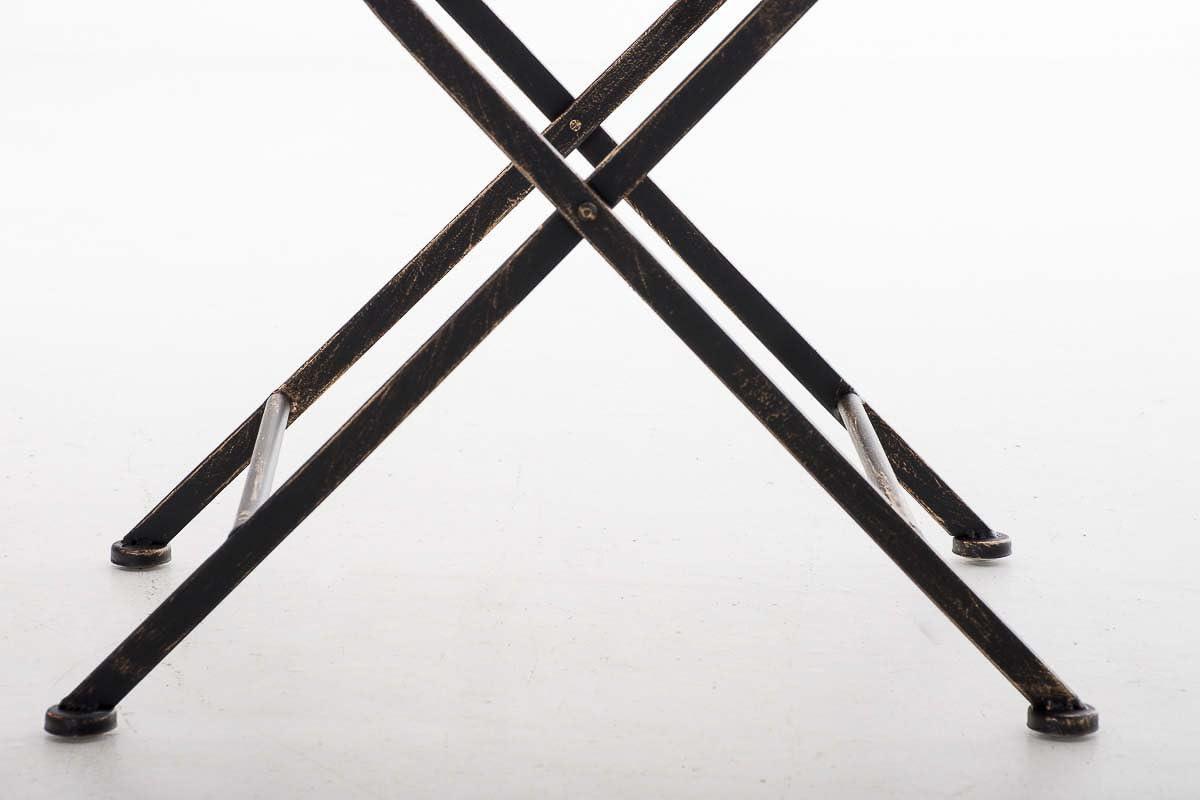 Bronce CLP Silla de Jard/ín Plegable Adelar I Silla de Exterior Plegable en Hierro I Silla de Exterior Estilo Vintage I Color