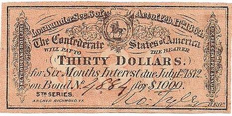 Confederate $1000 War Bond Coupon at Amazon's Collectible