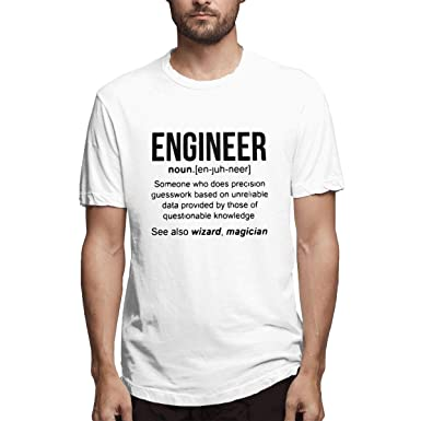 042c0648 SY COMPACT Funny Engineer Meaning Men Cotton Short Sleeve Shirts at Amazon Men's  Clothing store:
