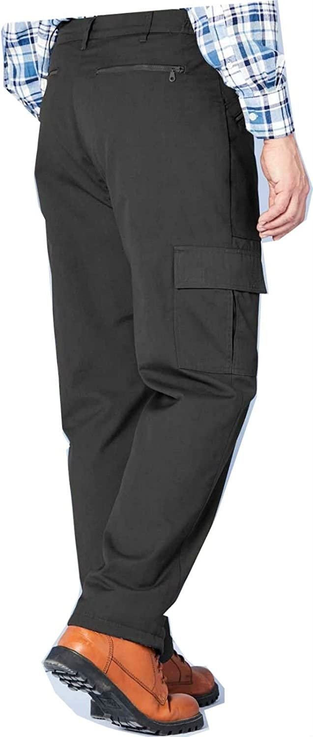 CARABOU MENS  RUGBY TROUSERS FULL ELASTICATED ELASTIC WAIST PANTS W32-W48