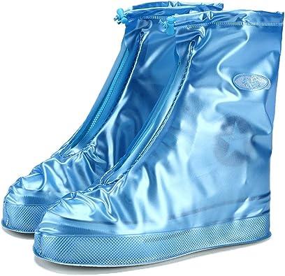 Reusable Thick Plastic Waterproof Rain Shoes Covers Slip-resistant Anti-Slip