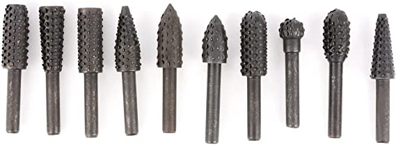 """Rotary File Milling Burrs Grinder Carving Drill Bit H Torch Type 1//8/"""" 1//4/"""" Shank"""