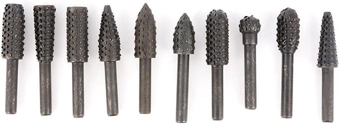 "20x 3mm Rotary Burr Bit Set Wood Carving Rasps For 1//8/"" Shank Burs 40mm Long"