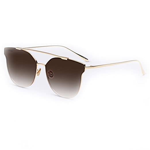 283332451d6 Amazon.com  Dormery Sunglasses Women Brand Designer Vintage Sun Glasses  Female Fashion Women Luxury Decoration Classic Eyewear UV400 C05Brown ...