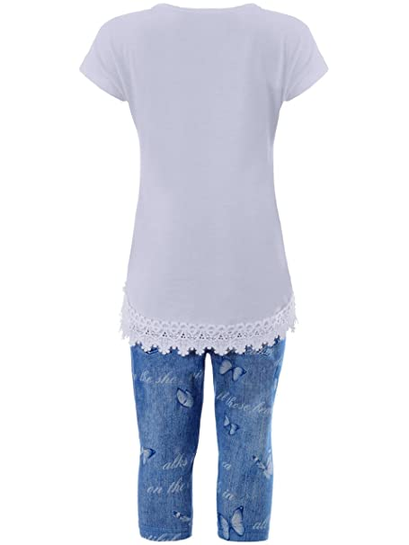 Mädchen Set Sommerset T-Shirt Capri Hose Leggings Shorts  *NEU*  MSn705a