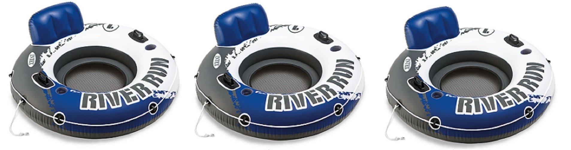 Intex River Run 1 Inflatable Floating Tube Raft for Lake, River, & Pool (3 Pack)