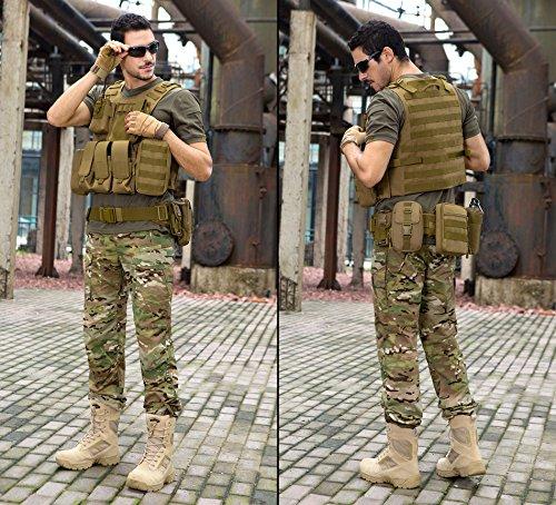 ArcEnCiel Tactical Molle Vest, Coyote Brown