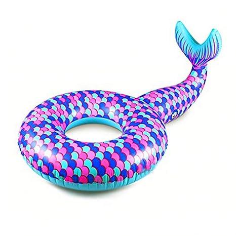 Belingeya Flotante Fila PVC Inflable Flotante Cama Rosa Flotador Ms niño Flotante Fila en Anillo Swim