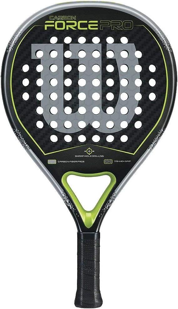 Wilson Carbon Force Pro Raqueta de Pádel, Unisex Adulto, Negro/Verde, Talla Única: Amazon.es: Deportes y aire libre