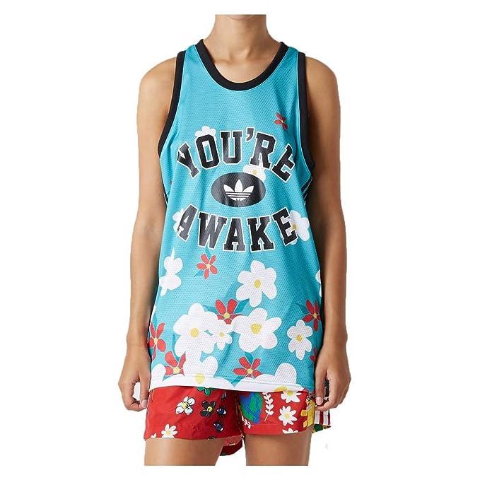 adidas Camiseta Tirantes (Tank Top) Pharrell Williams Daisy Verde/Negro Talla: XS