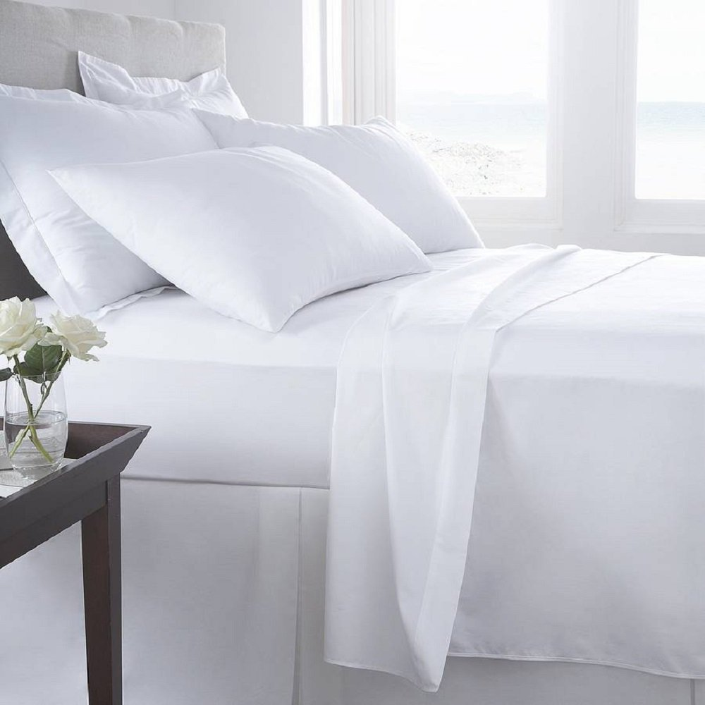 Luxury Home Super-Soft 1600 Series Double-Brushed 6 Pcs Bed Sheets Set (King, White) by Luxury Home (Image #3)