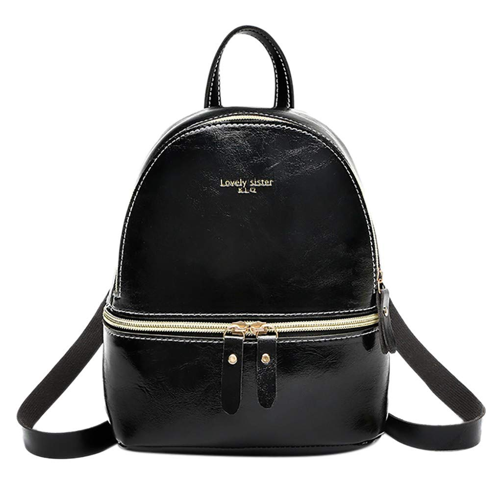 HOSOME Lady Small Backpack Letter Purse Mobile Phone Messenger Bag