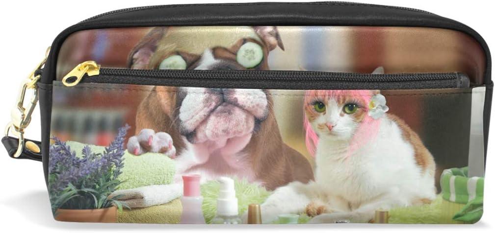 Estuche para lápices con cremallera, bolsa de maquillaje grande para gatos, golosinas, con estuche para lápices de leche, para niños y niñas, suministros escolares: Amazon.es: Oficina y papelería