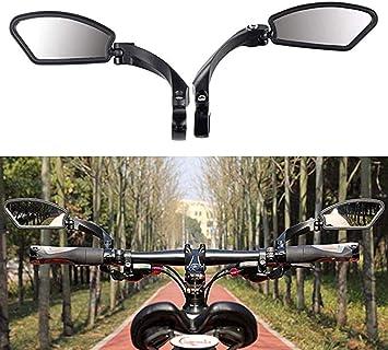 qianxia Espejo de Bicicleta,Acero Inoxidable Espejo de Rotación ...