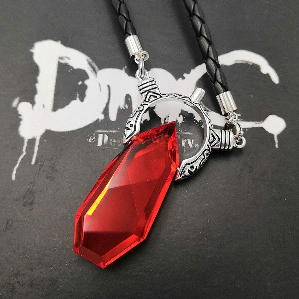Devil May Cry DMC Dante Vergil Crystal Pendant Necklace Men Jewelry Boys Xmas Gifts
