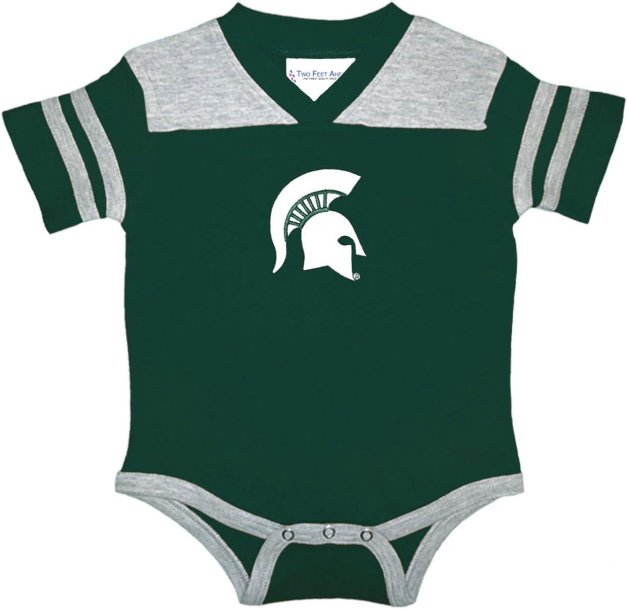 Two Feet Ahead NCAA College Newborn Infant Football Bodysuit Creeper