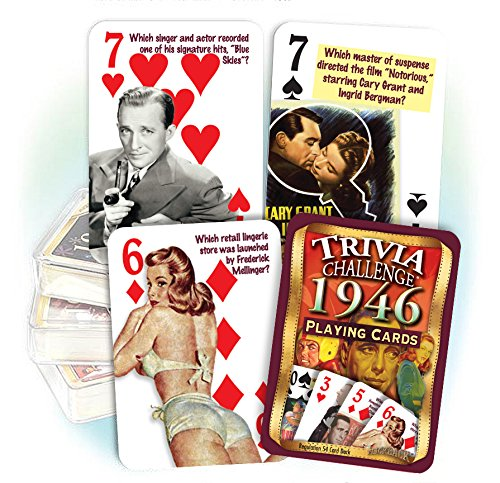 Flickback 1946 Trivia Playing Cards, Great Birthday or Anniversary by Flickback Media, Inc.