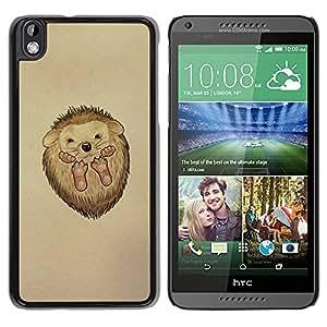 YiPhone /// Prima de resorte delgada de la cubierta del caso de Shell Armor - Cute Hedgehog Baby - HTC DESIRE 816