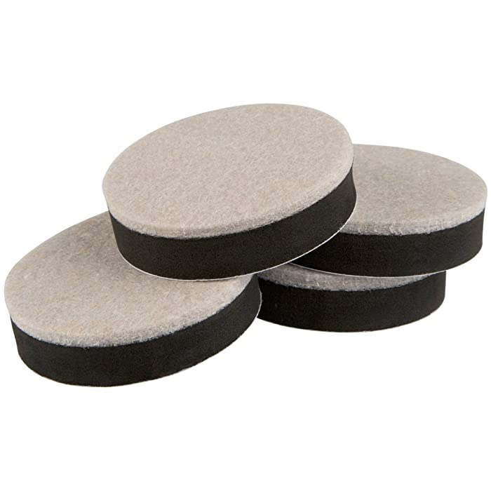 Super Sliders – Pack of 4 – 2½-inch Self-Stick Furniture Movers for Wood, Linoleum, and Ceramic