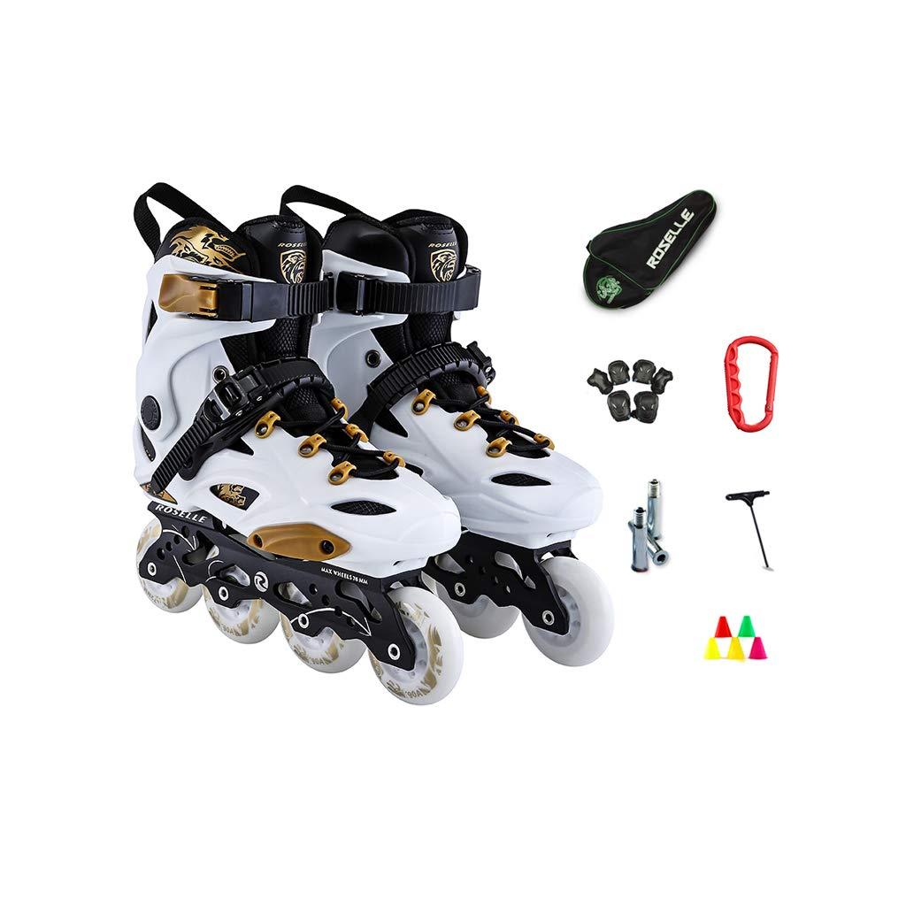 Ailj インラインスケート、 大人用1列スケート プロの男性と女性 スケート 初心者 フルセット(白) (色 : White A, サイズ さいず : 40 EU/7.5 US/6.5 UK/25cm JP) B07MXV8C41 35 EU/4 US/3 UK/22.5cm JP|White A White A 35 EU/4 US/3 UK/22.5cm JP